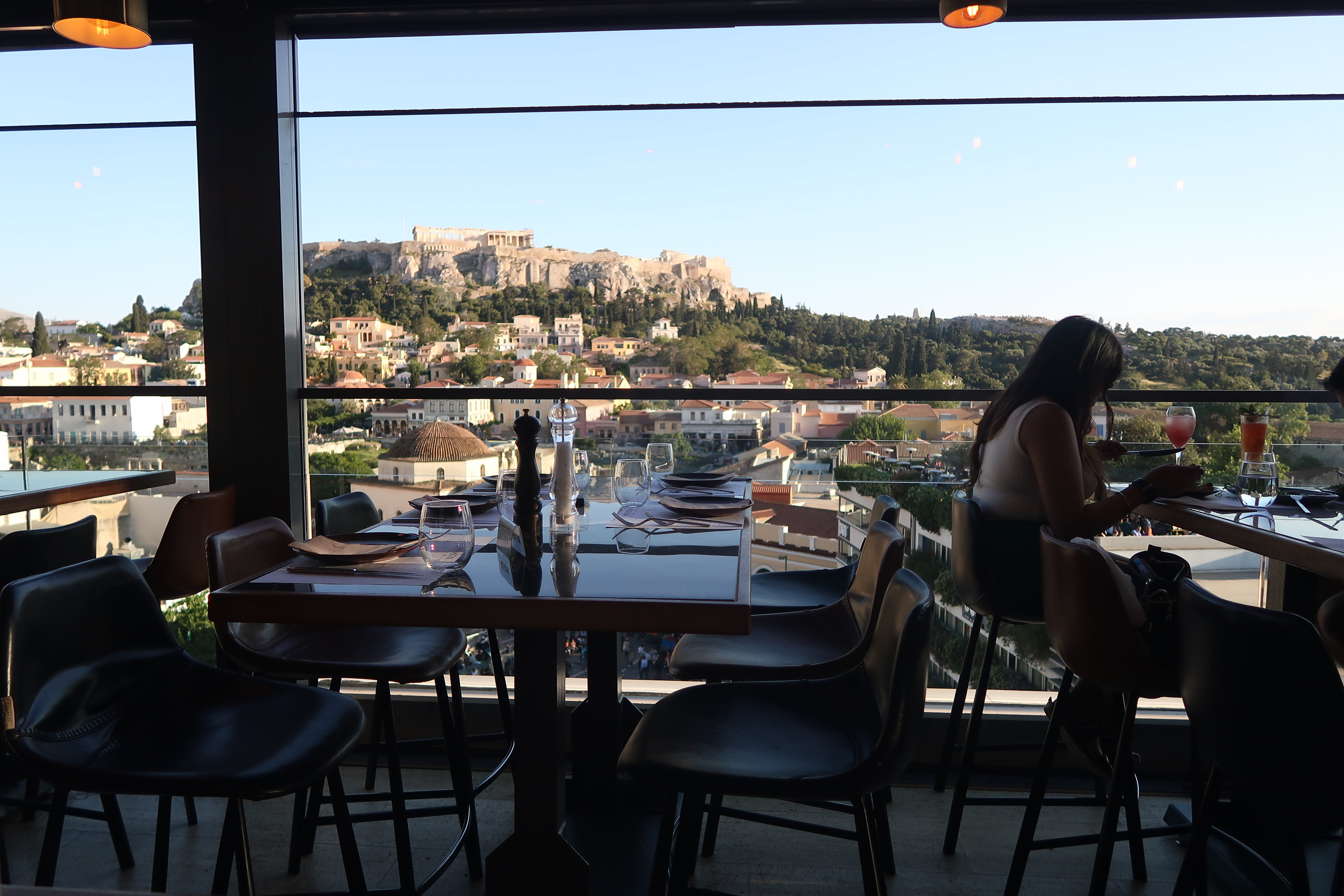 rooftop view of parthenon in athens